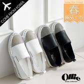 韓國 Ollie 韓國空運 版型偏小 柔軟皮革 亮鑽造形 手工馬克線 質感懶人鞋【F720646】2色 SD韓美鞋