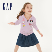 Gap女童 Gap x Disney 迪士尼系列米妮印花連帽外套 551230-石英粉