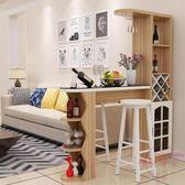 家用吧台桌家用酒柜組合玄關柜隔斷柜客廳小吧台轉角靠墻吧台酒柜