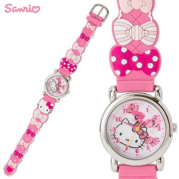 日本限定 三麗鷗 HELLO KITTY 甜美蝴蝶 兒童腕錶