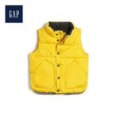 Gap男幼童柔軟保暖無袖加長立領背心473797-黃色