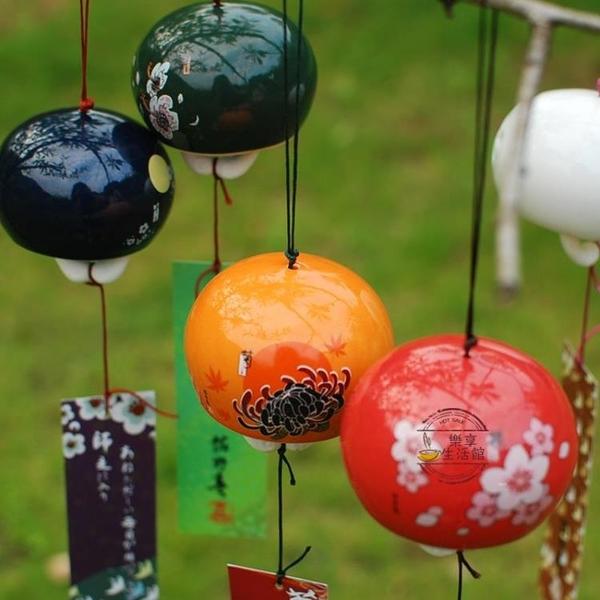 肚皮家 日式櫻花和風陶瓷風鈴日本門窗掛飾生日禮物創意女生【快速出貨】