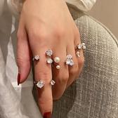 關節戒指女時尚簡約珍珠開口指環【小酒窝服饰】