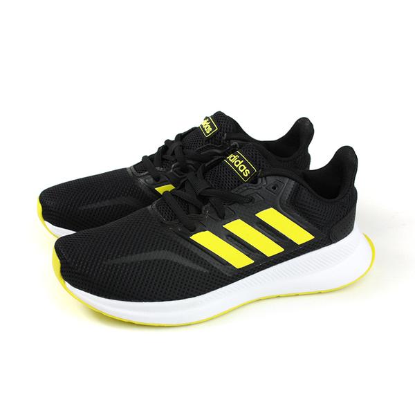 adidas RUNFALCON K 跑鞋 運動鞋 黑/黃 大童 童鞋 F36544 no735