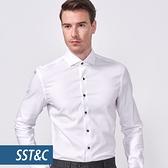 SST&C 男裝 米蘭系列-紋理白色襯衫   0312010009