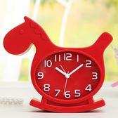 鬧鐘-邁爾靜音鬧鐘創意學生卡通兒童小鬧鐘錶懶人臥室床頭電子時鐘座鐘 提拉米蘇