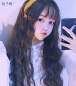 假髮 假髮女長髮羊毛捲髮全頭模式劉海假髮套自然網紅可愛玉米燙泡面頭