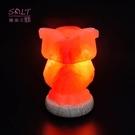 鹽燈專家【鹽晶王】玫瑰鹽(貓頭鷹)造型鹽燈,居家風水擺飾,開運旺財,富貴滿堂。