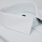 【金‧安德森】白色寬紋吸排短袖襯衫