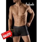 Aubade man-舒棉M-XL平口褲(黑金點點)