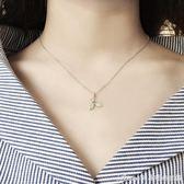 S925純銀項鍊女韓版簡約學生森系生日禮物個性小清新項鍊女鎖骨鍊艾美時尚衣櫥