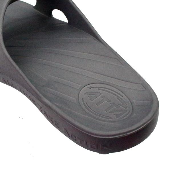 【333家居鞋館】ATTA | 足底均壓 足弓簡約休閒拖鞋-黑色