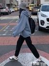 休閒褲 加絨運動褲女寬鬆秋冬季2021新款外穿束腳褲休閒棉衛褲ins潮春秋 智慧 618狂歡