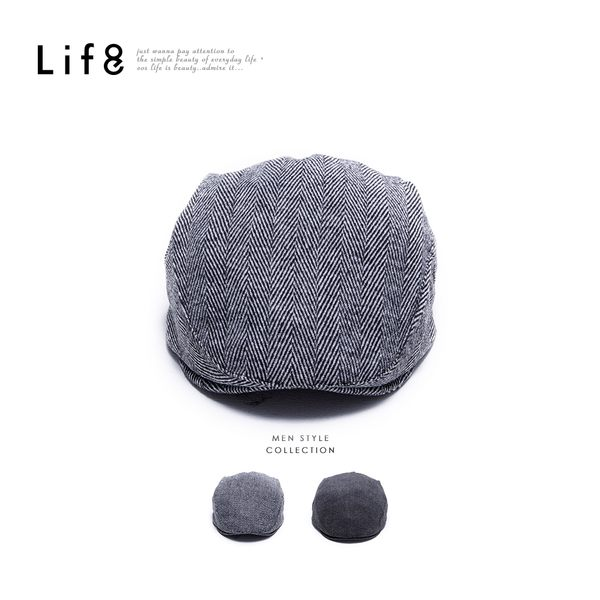 Casual 小麥紋 羊毛報童帽【05386】