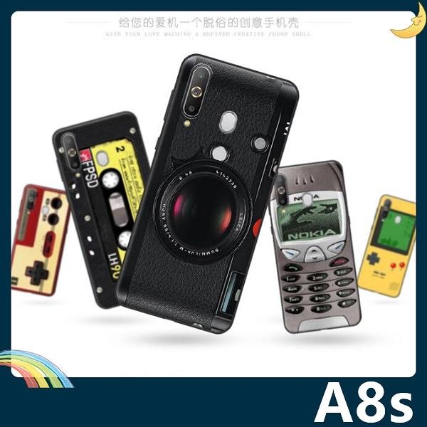 三星 Galaxy A8s 復古偽裝保護套 軟殼 懷舊彩繪 計算機 鍵盤 錄音帶 矽膠套 手機套 手機殼
