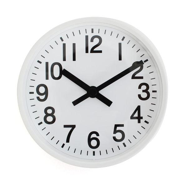 LOVEL 16cm摩登復古鋁框靜音時鐘-白(7361-WH)