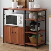 微波爐置物架 收納架多層微波爐置物架廚房架子碗柜家用多功能置物柜TW【快速出貨八折特惠】