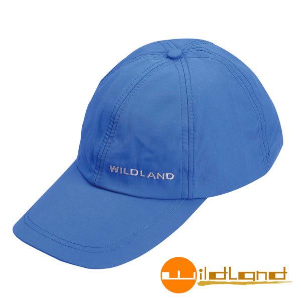 Wildland荒野 W1013-45地中海藍 中性 抗UV透氣棒球帽/防曬/遮陽/踏青/郊遊/MIT/休閒帽/工作帽