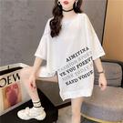 大碼短T~8762韓版寬松拉鏈重工潮牌印花短袖T恤女4F-E416 胖妞衣櫥