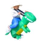 漫翔 聖誕節cos服兒童充氣恐龍衣服寶寶服裝騎坐騎褲子霸王龍小孩