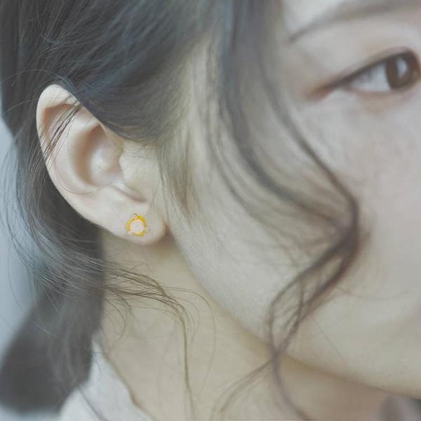 仿沙金馬來玉耳釘女鍍金鑲石時尚耳釘個性百搭耳針飾品久不掉色