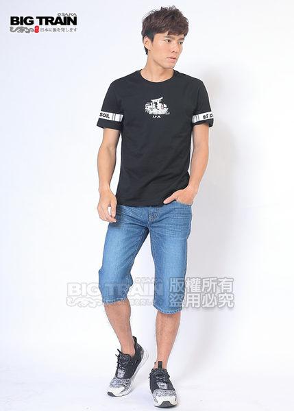 BIG TRAIN 純棉牛仔短褲-男-中藍
