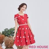 Red House 蕾赫斯-大小點蕾絲洋裝(共2色)