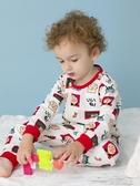 兒童睡衣春秋冬季男孩純棉長袖女寶寶家居服套裝男童小童小孩幼兒(聖誕新品)