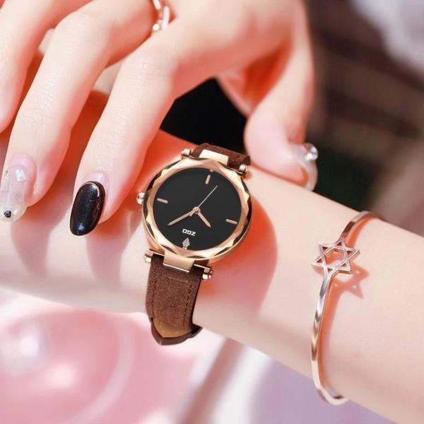 【CRM專屬】簡約休閒手表女韓版時尚氣質學生考試專用星空石英表 怦然新品