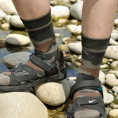 台灣製~外銷美國 SANASAI 吸濕除臭 迷彩 羊毛防水襪
