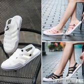 包頭洞洞鞋女夏防滑軟底孕婦拖鞋涼鞋透氣外穿兩用海邊護士沙灘鞋 印象家品旗艦店