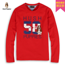 Hush Puppies 大學T 男裝58配色印花刺繡狗T恤