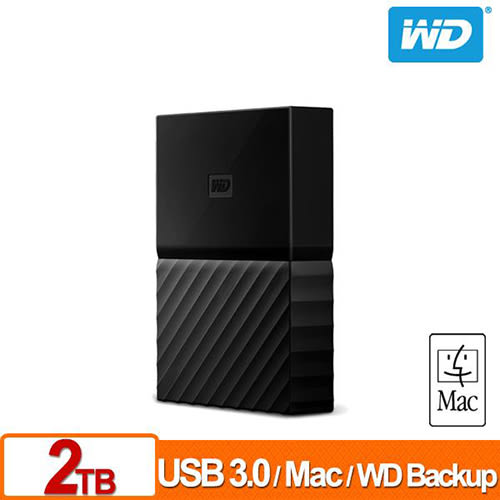 WD 威騰 WD My Passport for Mac 2TB 2.5吋 USB 3.0 行動硬碟