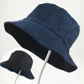 兩面戴鹿皮絨漁夫帽女可折疊平頂盆帽男戶外休閒遮陽帽太陽帽 星期八