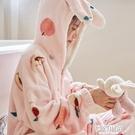 年新款法蘭絨珊瑚絨睡衣女士春秋冬季加厚情侶男士家居服套裝 夢幻小鎮