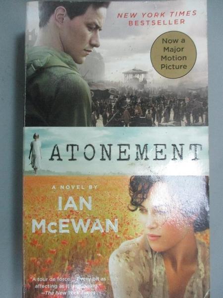【書寶二手書T8/原文小說_LOB】Atonement_McEwan