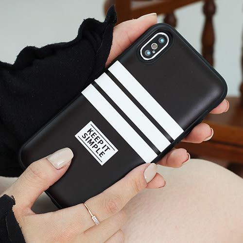 韓國 條紋配色 防摔掀蓋卡夾 手機殼│S7 Edge S8 S9 Plus Note5 Note8 Note9│z8512