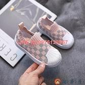 寶寶鞋子軟底防滑小童運動鞋男童飛織板鞋兒童休閒鞋女【淘夢屋】