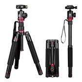 (交換禮物)相機架便捷三腳架便攜單眼相機架攝影雲台三角架手機自拍直播支架