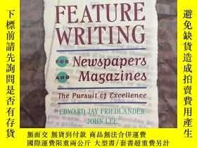 二手書博民逛書店Feature罕見Writing for Newspapers