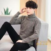 高領毛衣新款秋冬季高領保暖毛衣男士韓版潮流個性修身帥氣針織衫男裝線衣