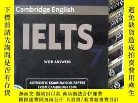 二手書博民逛書店Cambridge罕見English IELTS EXAMINATION PAPERS 7(有光盤)Y2396