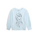 Gap女幼童GapxDisney迪士尼系列圓領長袖套頭T恤519079-淡水藍色