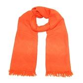 HERMES 愛馬仕 橘紅色Logol壓印克什米爾羊絨混絲質圍巾 Muffler 【BRAND OFF】