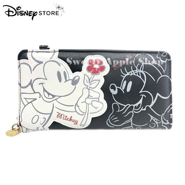 (現貨) 日本DISNEY STORE 迪士尼商店  米奇&米妮 背帶可拆卸式 長夾 / 錢包