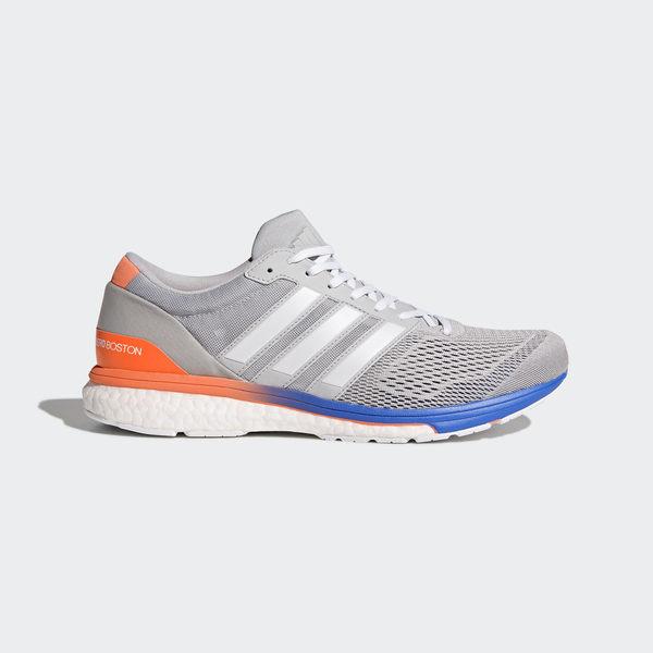 *adidas 慢跑鞋 Adizero Boston 6 M 灰 白 BOOST中底 低筒運動鞋 男鞋 BB6415