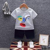 男寶寶夏季短袖套裝小孩新款寶寶衣服1-2-3-4周歲兒童夏季兩件套三角衣櫥