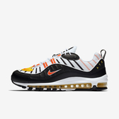 Nike Air Max 98 [640744-016] 男鞋 運動 休閒 籃球 氣墊 避震 經典 穿搭 舒適 黑橘