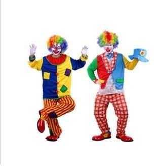 成人小丑服裝裝扮5件套