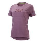 MIZUNO 女裝 短袖 T恤 慢跑 吸汗速乾 抗紫外線 反光 沙漠玫瑰【運動世界】J2TA170166